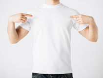 Man in blank t-shirt Stock Image