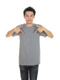 Man with blank t-shirt Royalty Free Stock Image