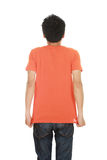 Man with blank t-shirt Stock Image