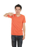 Man with blank t-shirt Stock Photography