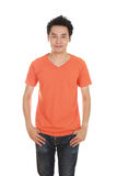 Man with blank t-shirt Royalty Free Stock Photos