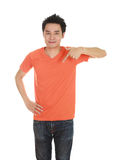 Man with blank t-shirt Stock Images
