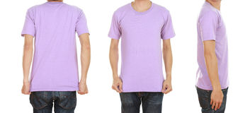 Man with blank t-shirt Stock Photos