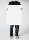 Man with blank white board Royalty Free Stock Photography