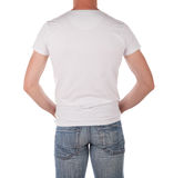 Man in blank white shirt Royalty Free Stock Images