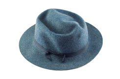 Man Blauwe Hoed Stock Fotografie