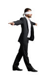 Man with the blindfold Stock Images