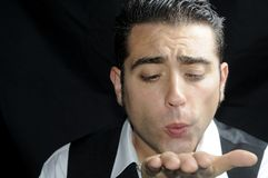Man blowing a kiss Royalty Free Stock Photos