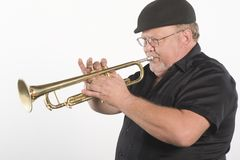 Man Blowing Trumpet Royalty Free Stock Photo