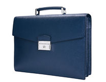 Man blue briefcase Royalty Free Stock Photo