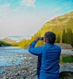 Man taking picture Royalty Free Stock Image