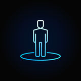 Man blue icon Royalty Free Stock Image