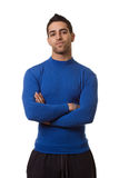 Man in Blue Shirt Royalty Free Stock Photo