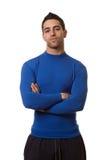 Man in Blue Shirt Royalty Free Stock Photo