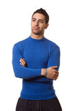 Man in Blue Shirt Royalty Free Stock Image