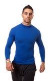 Man in Blue Shirt Stock Image