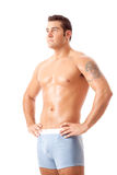 Man in Blue Underwear Royalty Free Stock Images