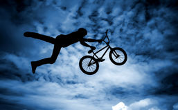 Man with a bmx bike. Royalty Free Stock Image