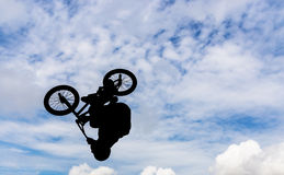 Man with a bmx bike. Stock Image
