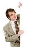 Man with board Royalty Free Stock Images