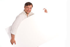 Man with board Stock Image