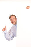 Man with board Stock Photography