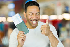 Man boarding pass Stock Images