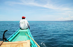 Man On The Boat Royalty Free Stock Image