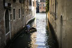 Man on a boat in Venice Royalty Free Stock Photography