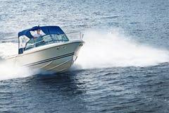 Man boating on lake stock image