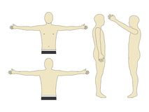 Man body art illustration element Stock Photo