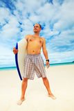 Man with body board Royalty Free Stock Photos
