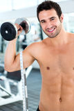 Man body building Royalty Free Stock Photography