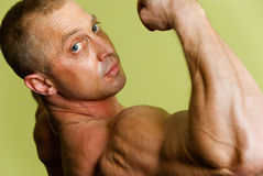 Man bodybuilder Royalty Free Stock Photography