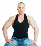Man bodybuilder Royalty Free Stock Photos