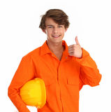 Man in a boilersuit Royalty Free Stock Photo
