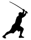 Man with bokken Royalty Free Stock Photo