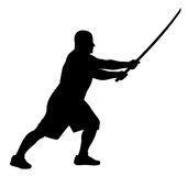 Man with bokken Royalty Free Stock Photography
