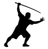 Man with bokken Stock Photo