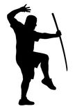 Man with bokken Royalty Free Stock Photos