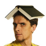 Man with book royalty free stock photography