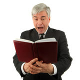 Man with a book Royalty Free Stock Photography