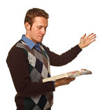 Man with book Royalty Free Stock Photo