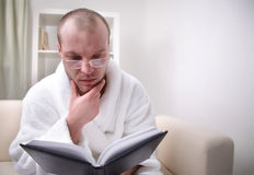 Man and book Royalty Free Stock Photos
