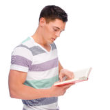 Man with book Royalty Free Stock Images