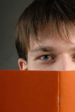 Man and book Stock Photos