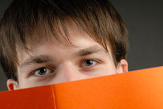 Man and book Stock Image