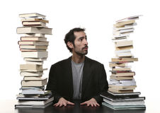 Man and book Stock Photo
