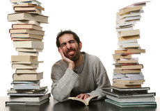 Man and book Royalty Free Stock Photo