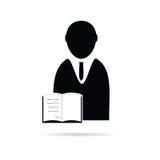 Man with book icon vector Royalty Free Stock Photos